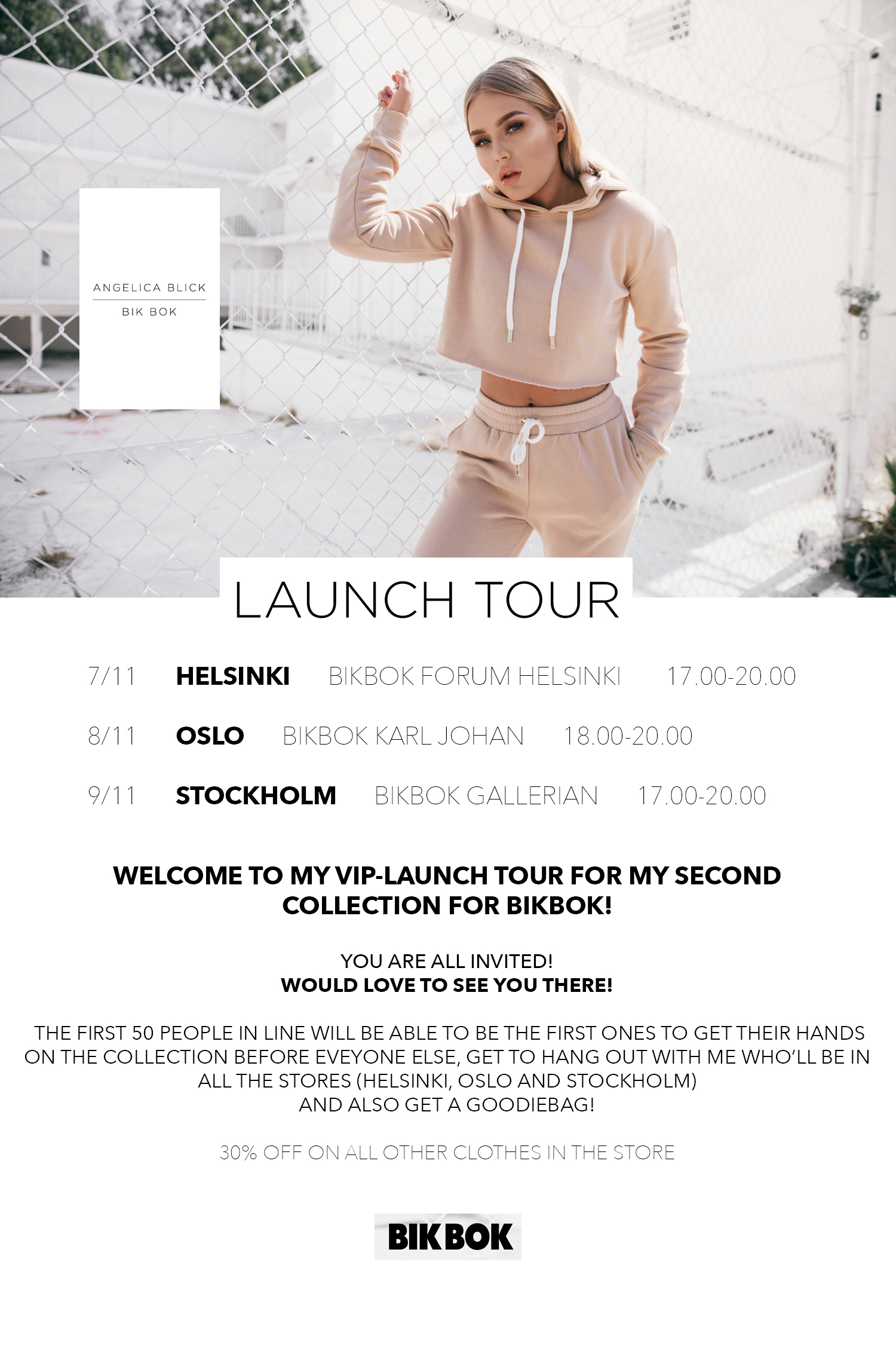 MY BIKBOK LAUNCH TOUR! COME AND HANG OUT WITH ME!