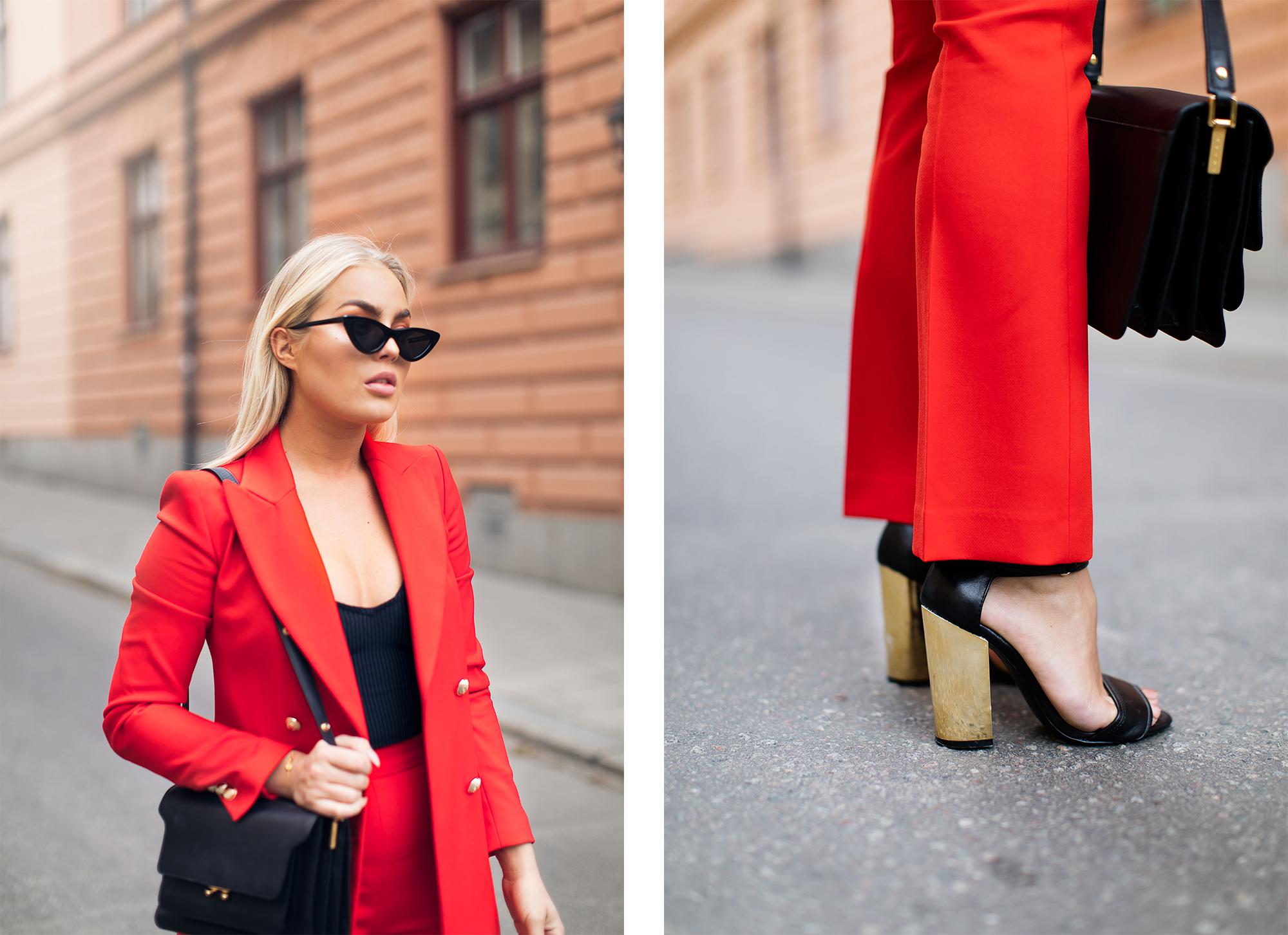 röd kostym zara