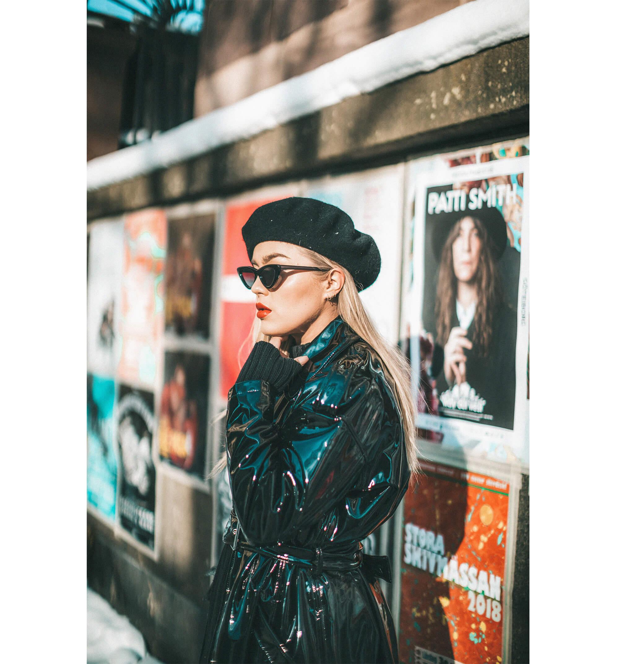MANGO vinyl coat