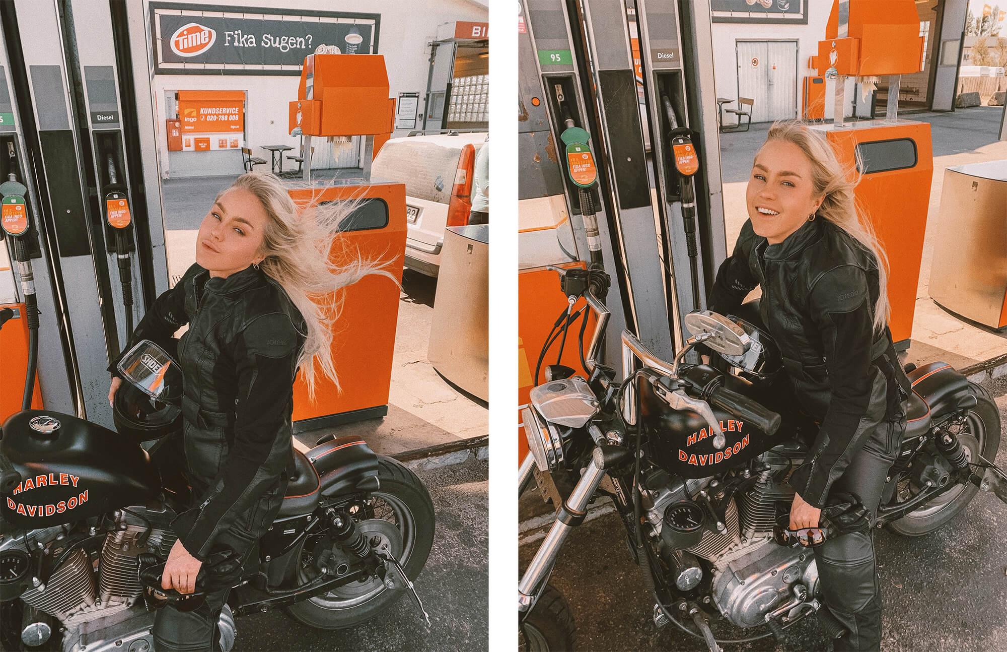 angelica blick motorbike